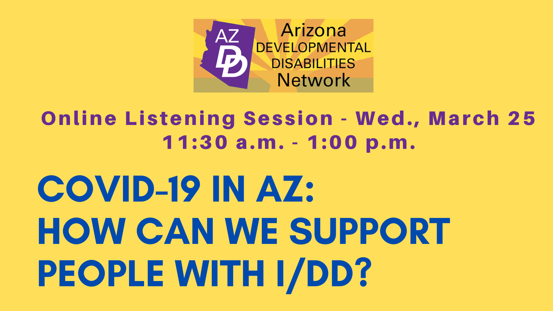 Online Listening Session: COVID-19 in AZ Session