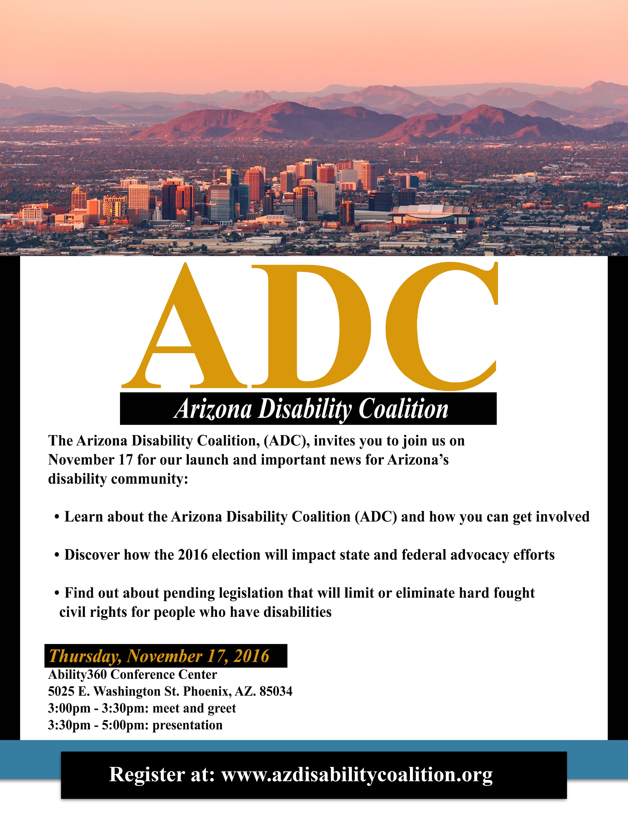 ADC Launch Flyer