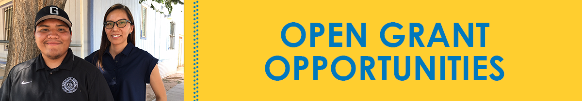 Click Here for Open Grant Opportunities