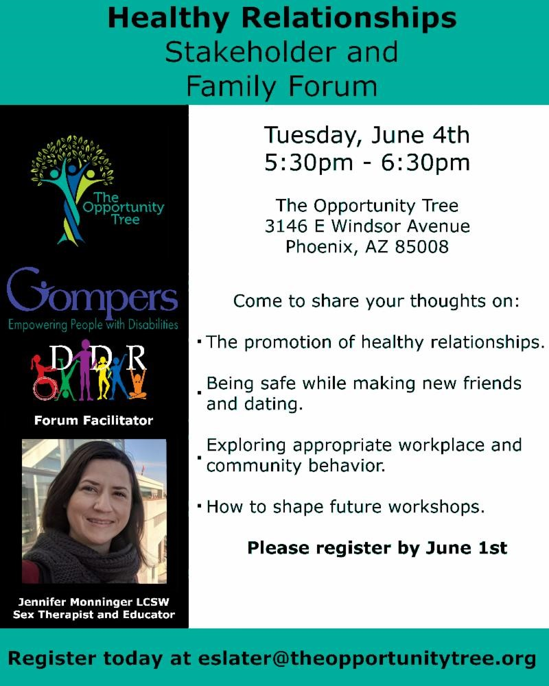 Healthy Relationships: The Opportunity Tree Family and Stakeholder Forum