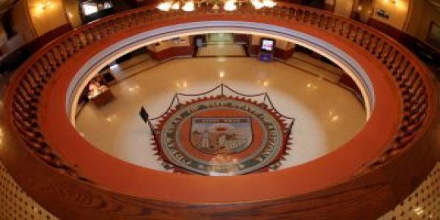 The Arizona legislative hallway at Arizona legislator