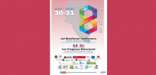 First Bicentennial Autism conference in white and pink lettering